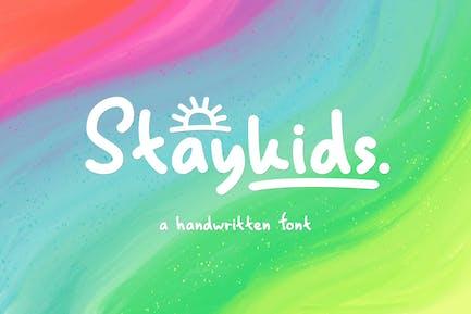 Stay Kids - Handwritten Font