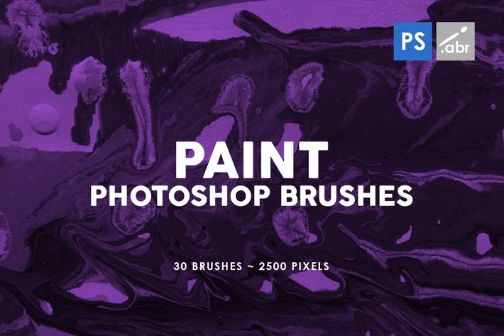 Thumbnail for 30 Paint Texture Photoshop Brushes Vol. 3