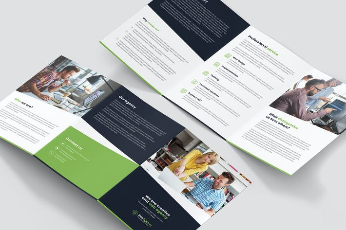 Thumbnail for Brochure – Web Agency Tri-Fold A5