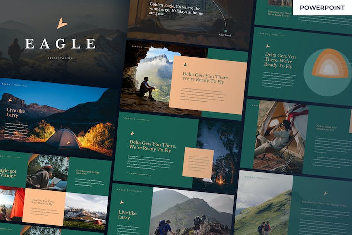 Cover Image For Adler - Adventure Powerpoint Vorlage