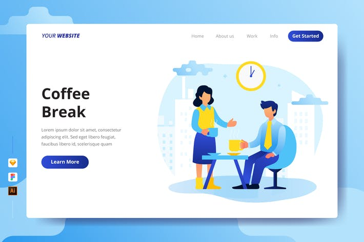 Thumbnail for Coffee Break - Landing Page