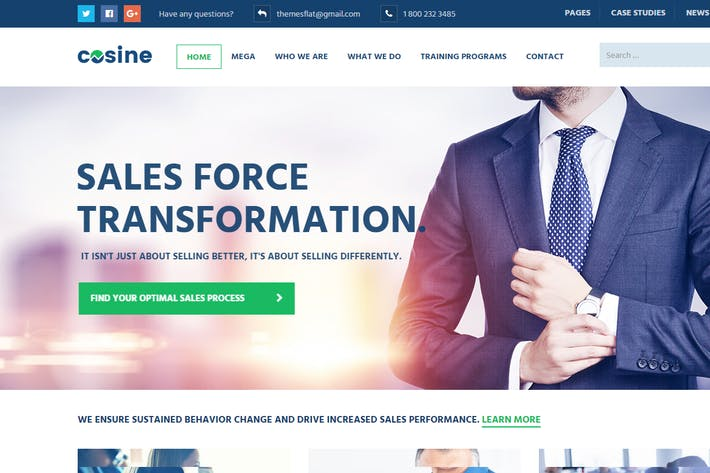 Thumbnail for Cosine - Training, Coaching & Business HTML Templa