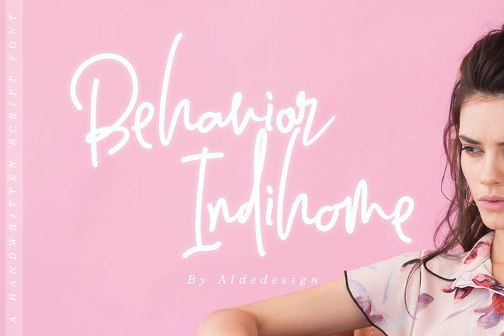 Thumbnail for Behavior Indihome | Signature Font