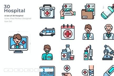 30 KrankenhausIcons