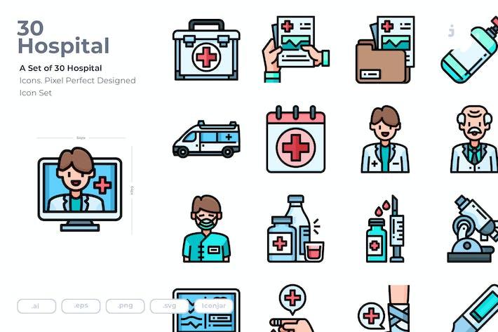 30 Hospital Icons