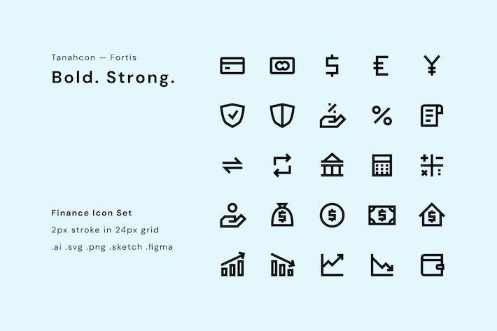Thumbnail for Conjunto de iconos de UI - Finanzas