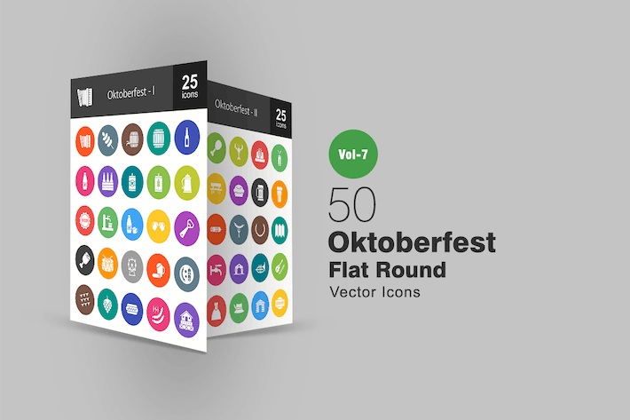Thumbnail for 50 Oktoberfest Flat Round Icons
