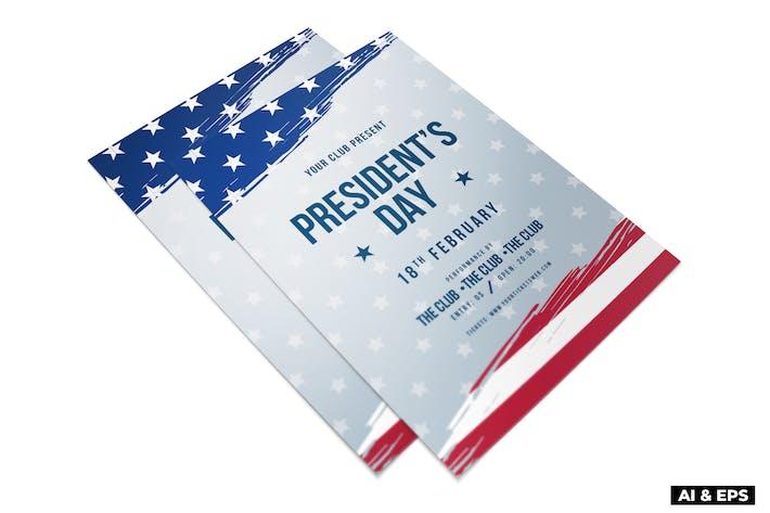 Thumbnail for US President's Day Flyer