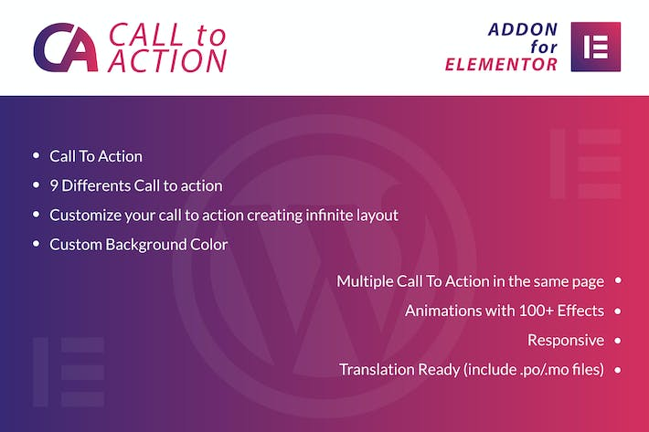 Cover Image For Call To Action for Elementor WordPress Plugin