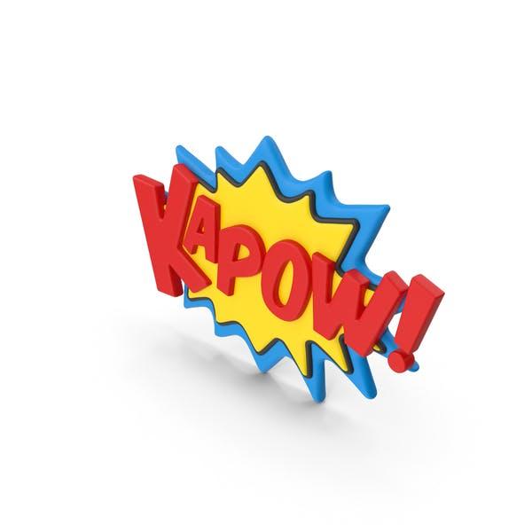 Thumbnail for Superhero Comic Text Bubble KAPOW!