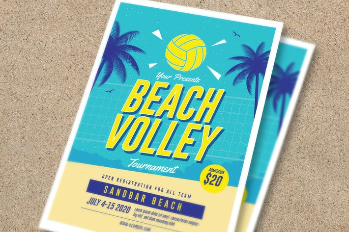 Thumbnail for Beach Volley Tournament Flyer