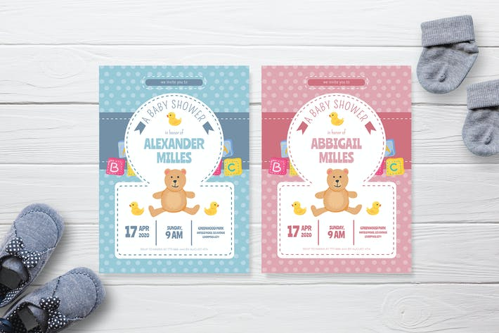 Thumbnail for Cute Toys - Baby Shower Invitation