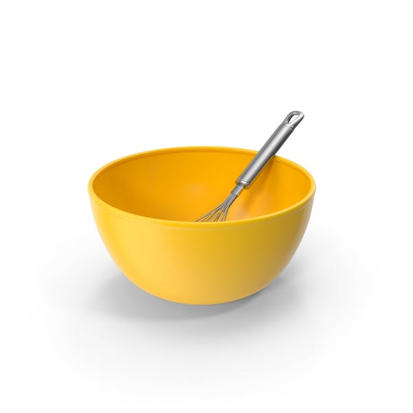 Yellow Bowl and Balloon Whisk