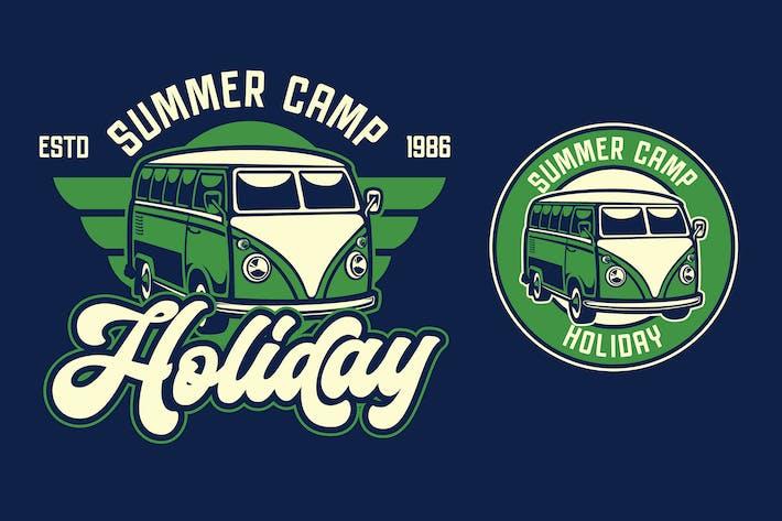 Thumbnail for Van Holiday Retro Logo Template