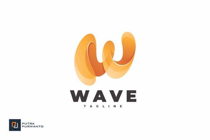 Thumbnail for Wave Letter W - Logo Template