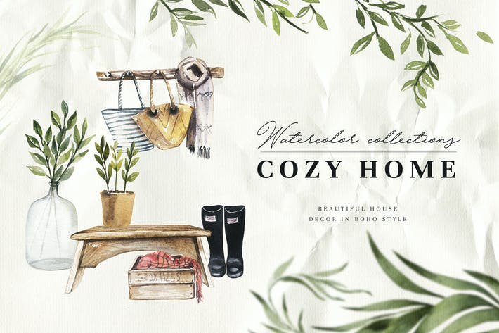 Thumbnail for Watercolor Cozy Home