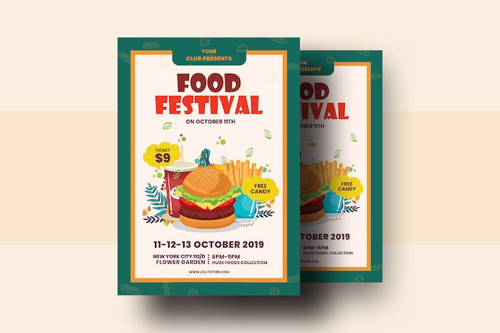Thumbnail for Food Festival Flyer Template