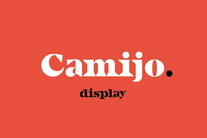 Thumbnail for Camijo Display Con serifa Font