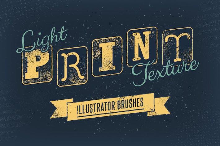 Cover Image For Light Print Texture Illustrator Brushes
