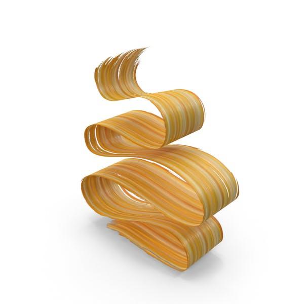 Cover Image for Желтый оранжевый 3D кисти ход