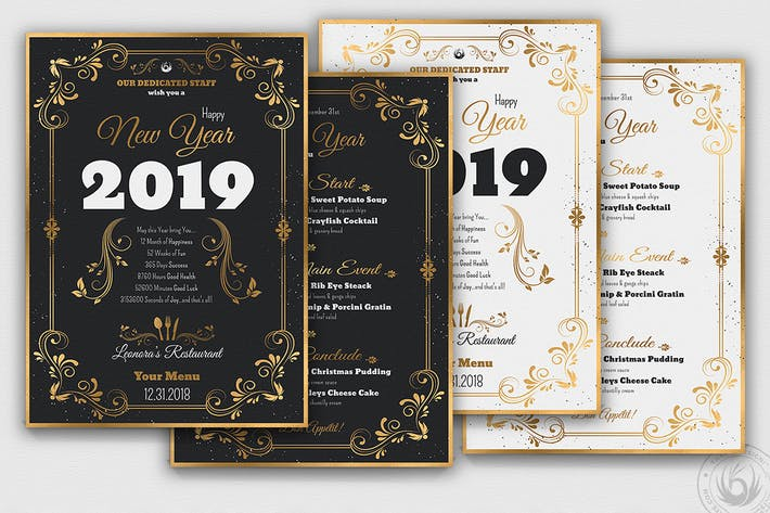 cover image for new year menu template v1