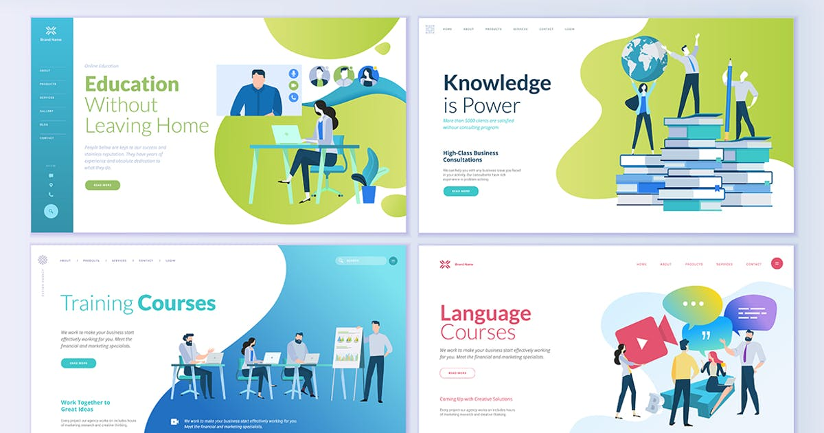 Download Web Page Design Templates for Education by PureSolution
