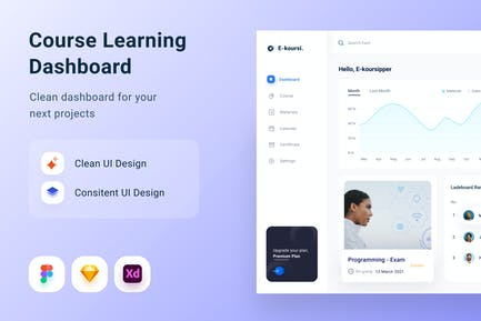 Courses Learning Dashboard