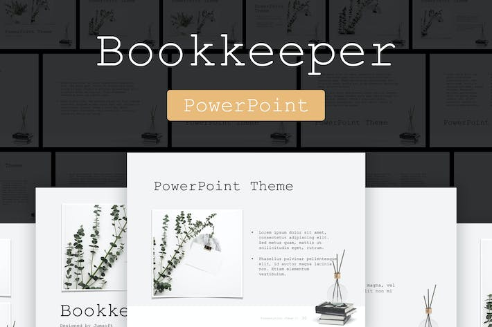 Thumbnail for Bookkeeper PowerPoint Template