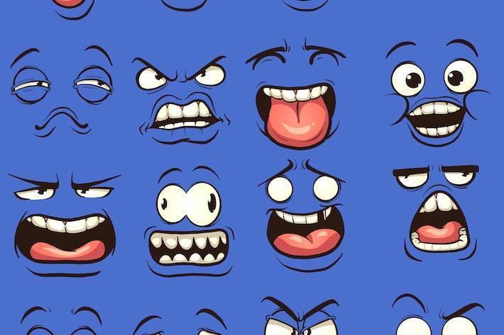 Caras de dibujos