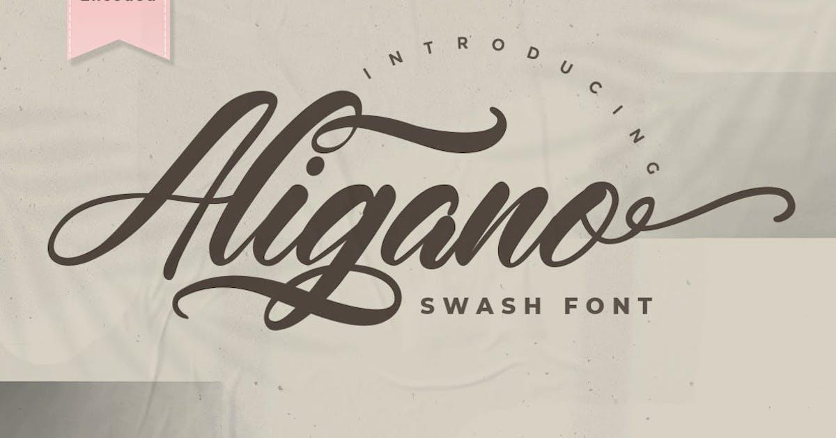 Download Aligano - Swash Font by puricreative