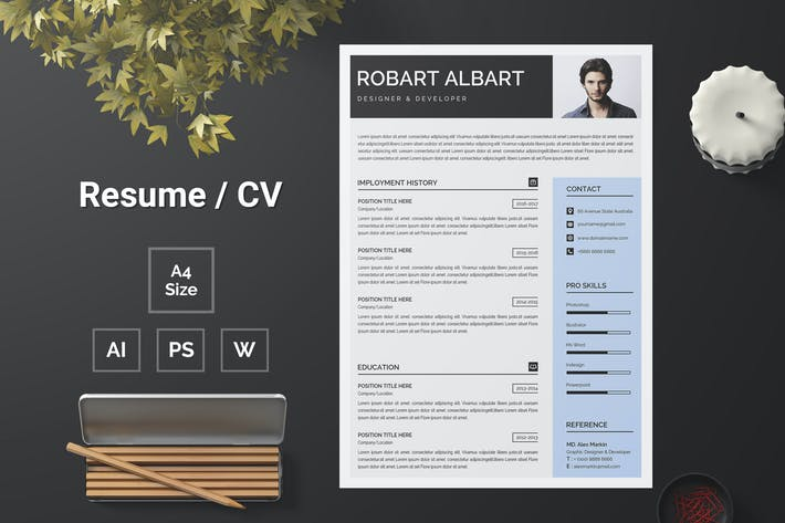 Thumbnail for Resume Template 107