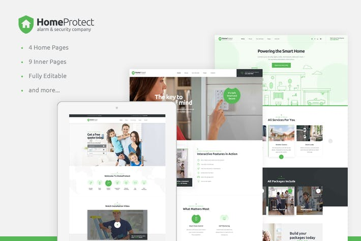 Thumbnail for HoomPotact - Smart Alarm & Security Systems HTML
