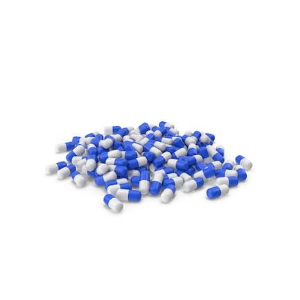 Pila De Tabletas Blanco Azul