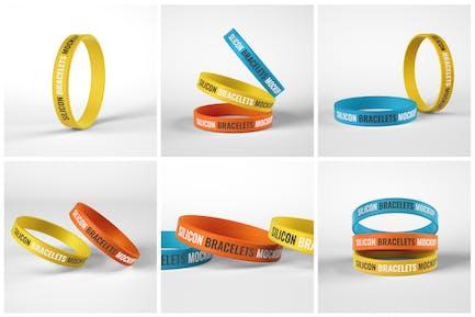 Silicone Bracelet Mockup Set | Wristband