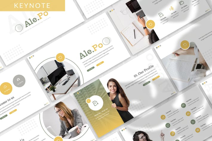 Thumbnail for Ale.po - Business Keynote Template