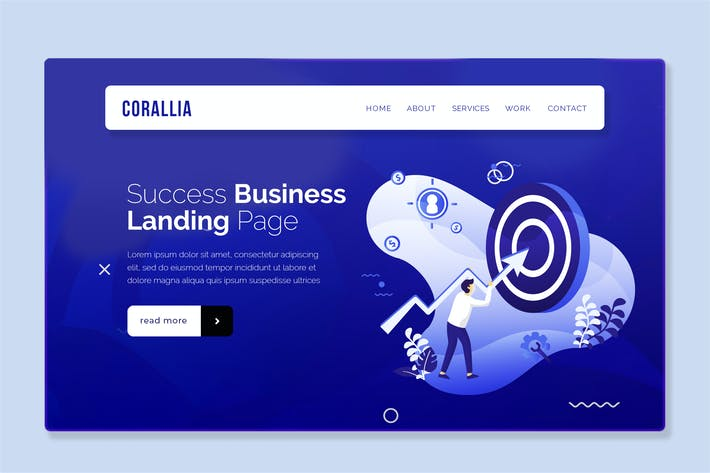 Thumbnail for Coralia - Hero Banner Landing Page