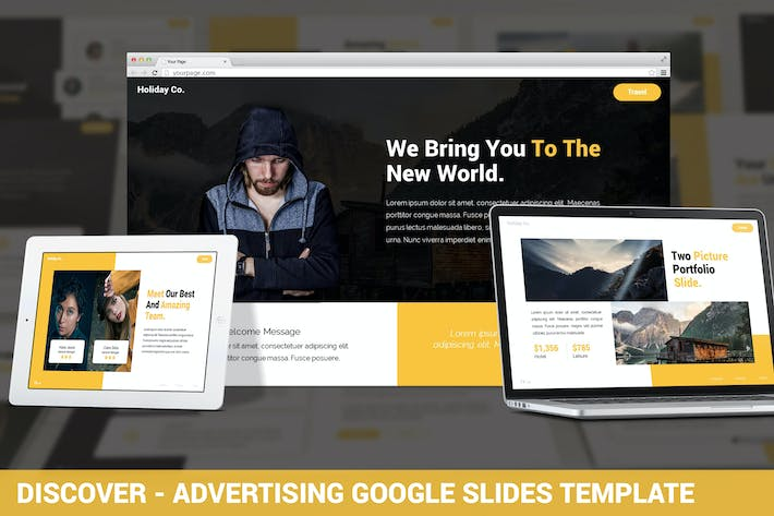 Thumbnail for Discover - Advertising Google Slides Template