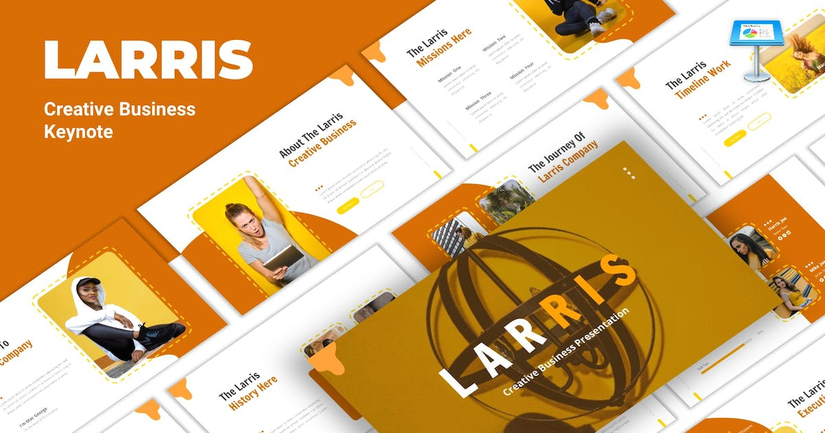 Download Larris - Creative Business Keynote Template by CocoTemplates
