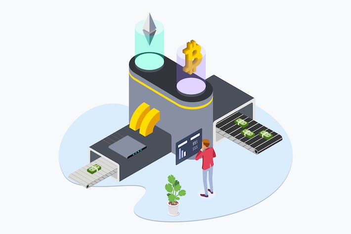 Thumbnail for Business Cryptocurrency Isometric