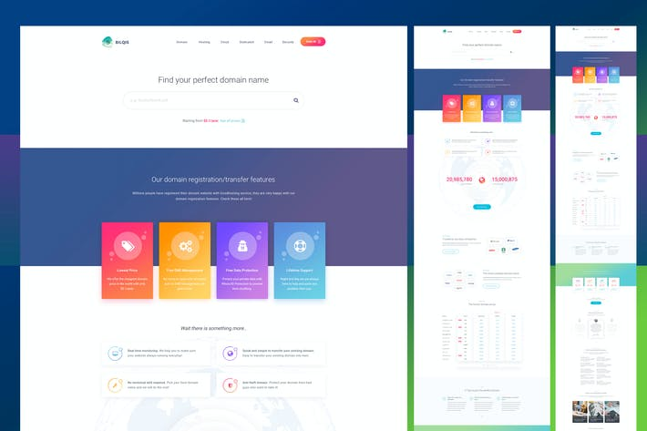Thumbnail for Domain Web Template - PSD [Graphics Included]