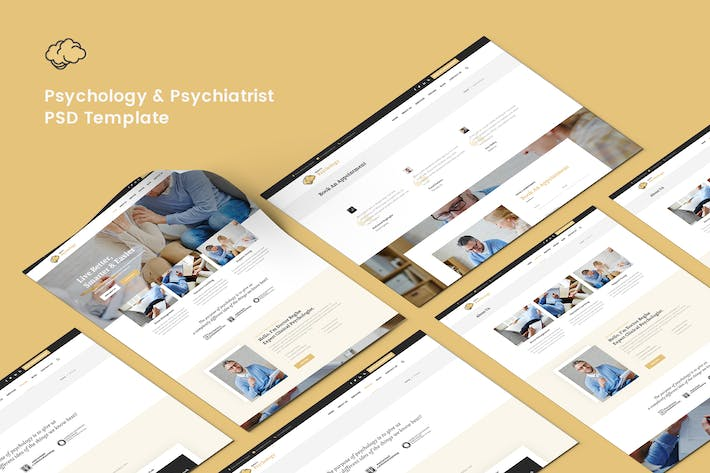 Thumbnail for Psychology & Psychiatrist PSD Template