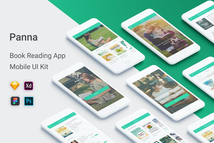Thumbnail for Panna - Book Reading UI Kit