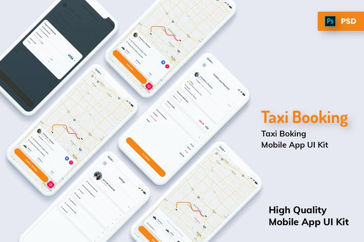 Thumbnail for Taxi Booking Mobile App Light Version