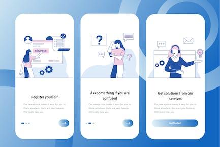 Customer Service - Onboarding Illustration