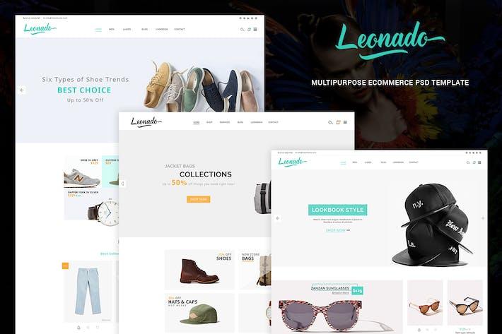 Thumbnail for Leonado - Multipurpose eCommerce PSD Template