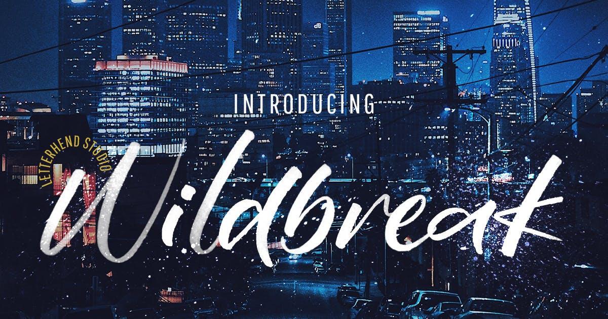 Download Wildbreak - SVG Brush Font by letterhend