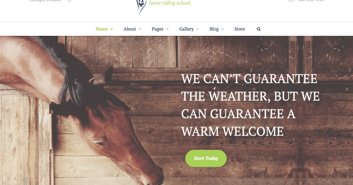 Download Equestrian Centre &Horse-riding School Hippodrome by ThemeREX