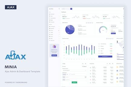 Minia - Ajax Admin & Dashboard Template