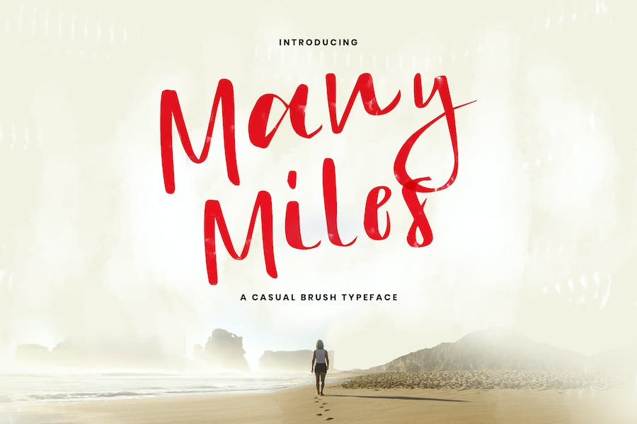 Many Miles - A Casual Typeface
