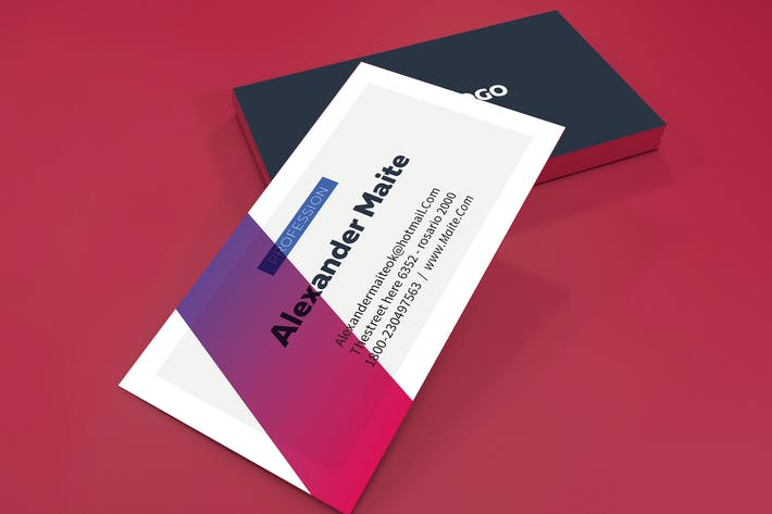 Thumbnail for Gradient Personal Cards Template